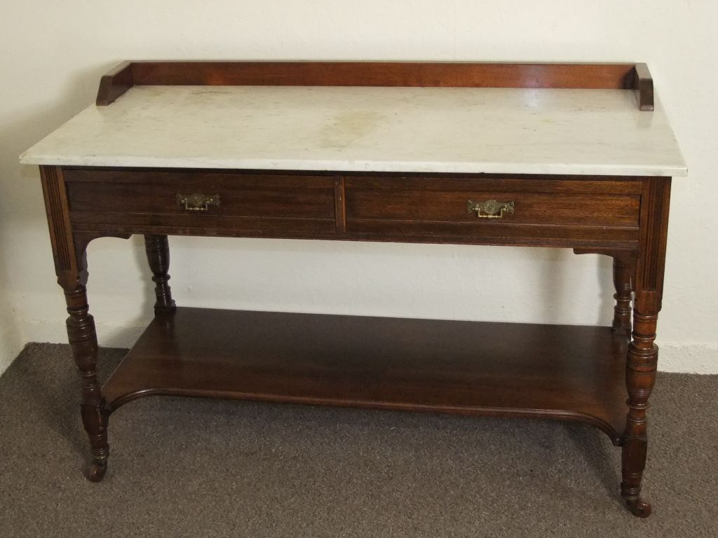 Antique edwardian marble top mahogany washstand free deliv for Furniture queensferry