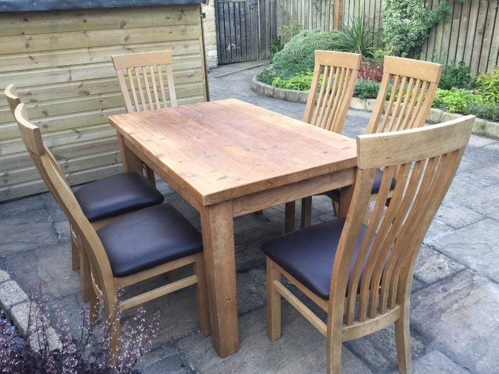 pine dining kitchen table and 6 chairs united kingdom gumtree