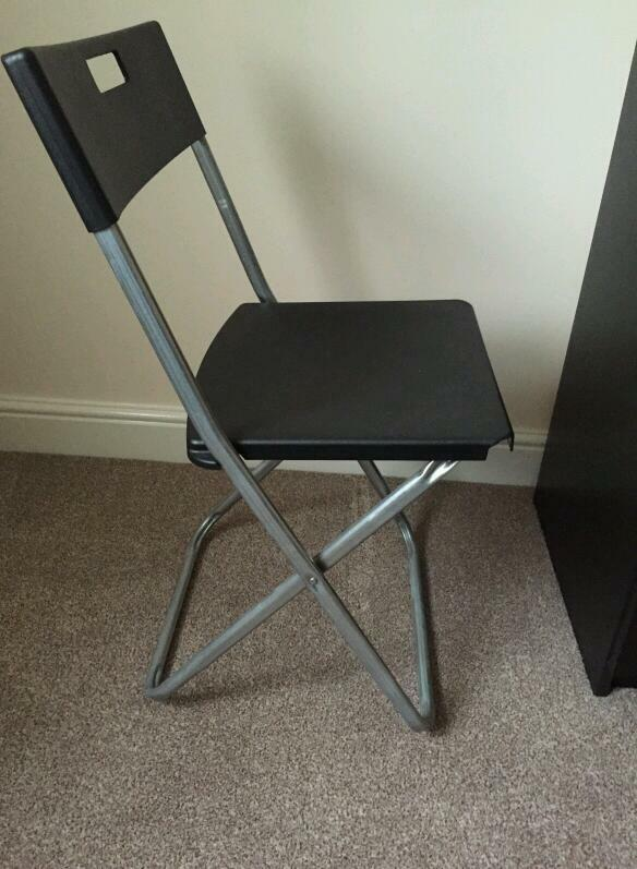 black fold away desk chair from ikea united kingdom