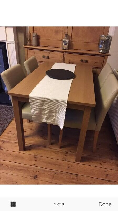 dining table and 4 chairs united kingdom gumtree
