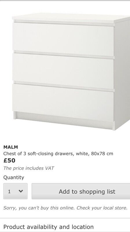 Ikea Malm Chest of 4 Drawers Ikea Malm Chest of Drawers