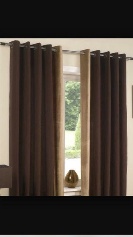 Next Brown Eyelet Curtains 90 X 66 United Kingdom