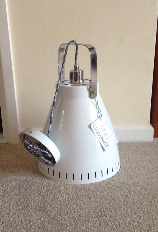 Bhs white industrial style light united kingdom gumtree for Industrial floor lamp gum tree