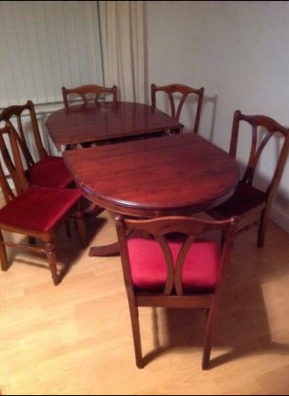 6 8 seater dining room table and 6 chairs united kingdom for Dining room tables on gumtree