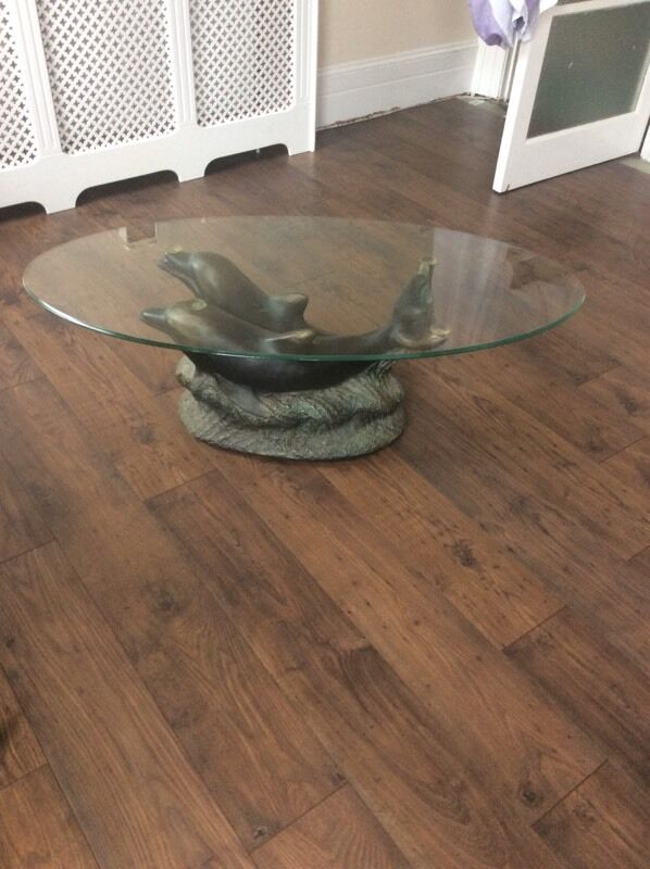 Dolphin Glass Coffee Table Buy Sale And Trade Ads