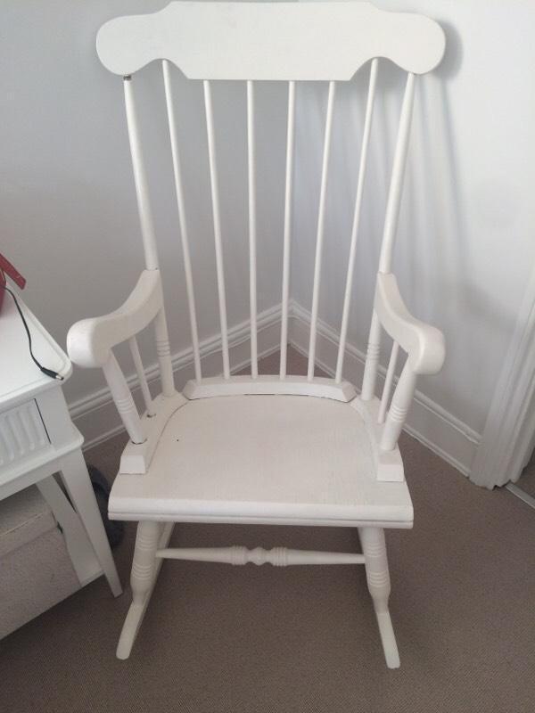 White Wooden Rocking Chair United Kingdom Gumtree