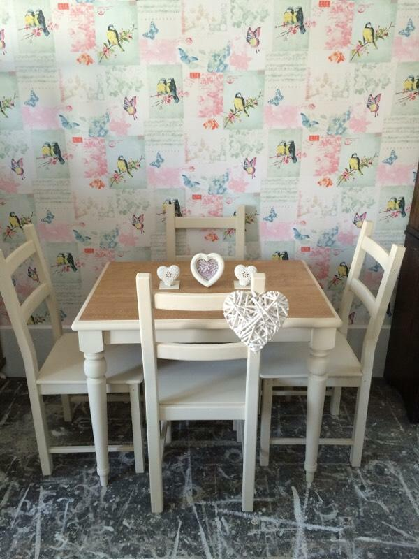 Table And Chairs Painted In Annie Sloan Old Ochre United Kingdom Gumtree