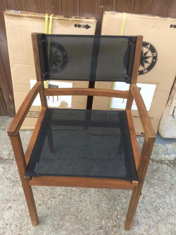 3 new wooden garden chairs united kingdom gumtree for Outdoor furniture gumtree