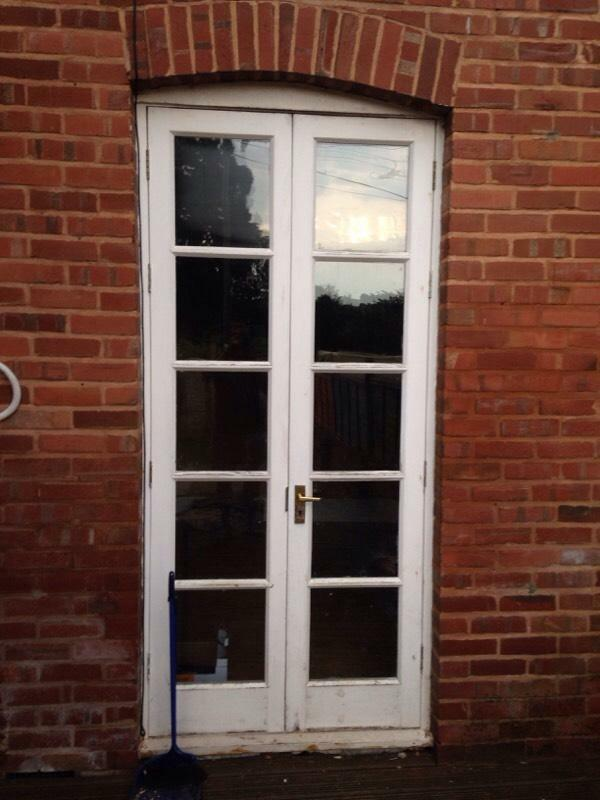 French wooden double doors united kingdom gumtree for Double open french doors