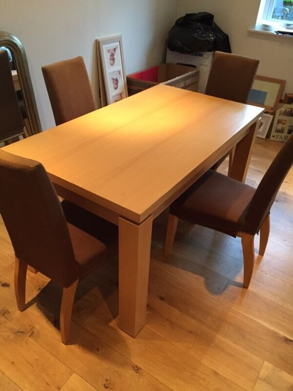 Next Dining Table And 4 High Back Chairs United Kingdom Gumtree