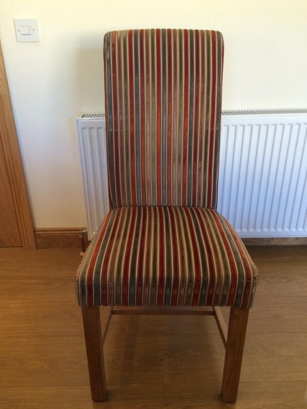 Fabric dining chairs with oak legs Buy sale and trade ads : 86 from dealry.co.uk size 600 x 800 jpeg 51kB