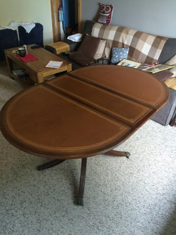 leather topped extendable dining table united kingdom gumtree