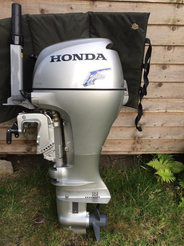 Honda 10hp 4stroke silver outboard boat engine great for 10 hp outboard jet motor