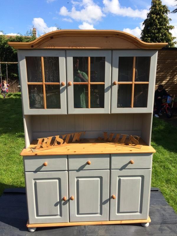Beautiful shabby chic pine welsh kitchen dresser united kingdom gumtree - Garden furniture kings lynn ...