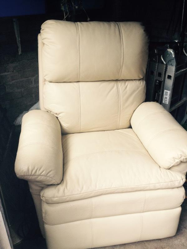 cream leather look recliner chair united kingdom gumtree