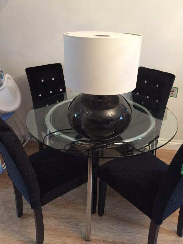 black brown glass ikea table lamp with cream shade united kingdom. Black Bedroom Furniture Sets. Home Design Ideas