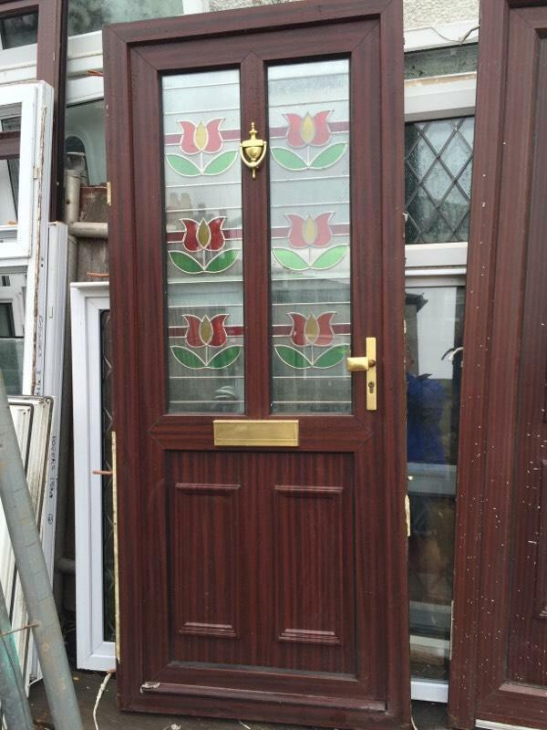 Used upvc brown front door united kingdom gumtree for Brown upvc door
