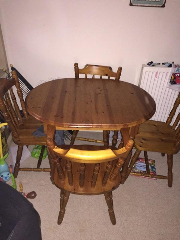 Solid Pine Dining Table And 4 Chairs United Kingdom Gumtree