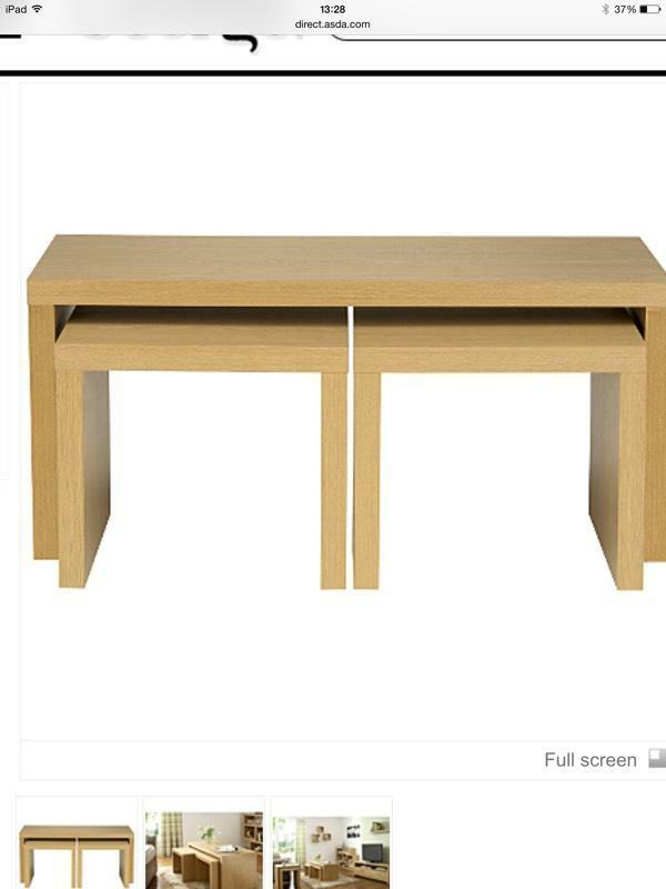 Long coffee table nest in oak united kingdom gumtree for Coffee tables gumtree