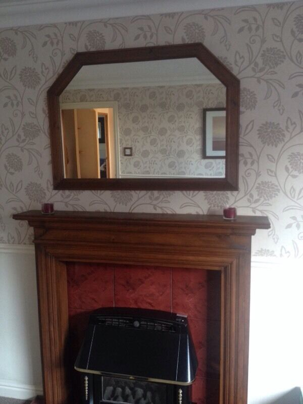 Mantle Mirror Wooden Framed Mantle Mirror