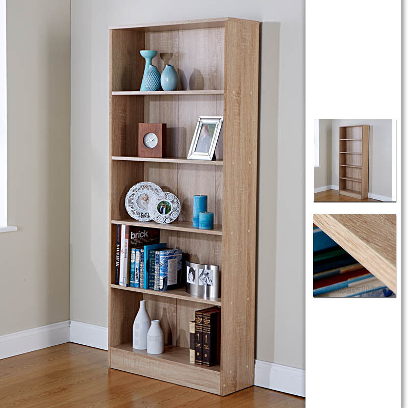 Bookcase shelf tall wood effect shelves bookshelf 170cm How deep should a bookshelf be