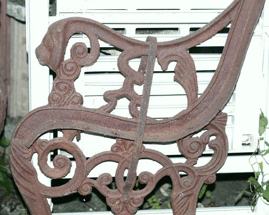 Victorian Cast Iron Bench Ends With Lion Heads United Kingdom Gumtree