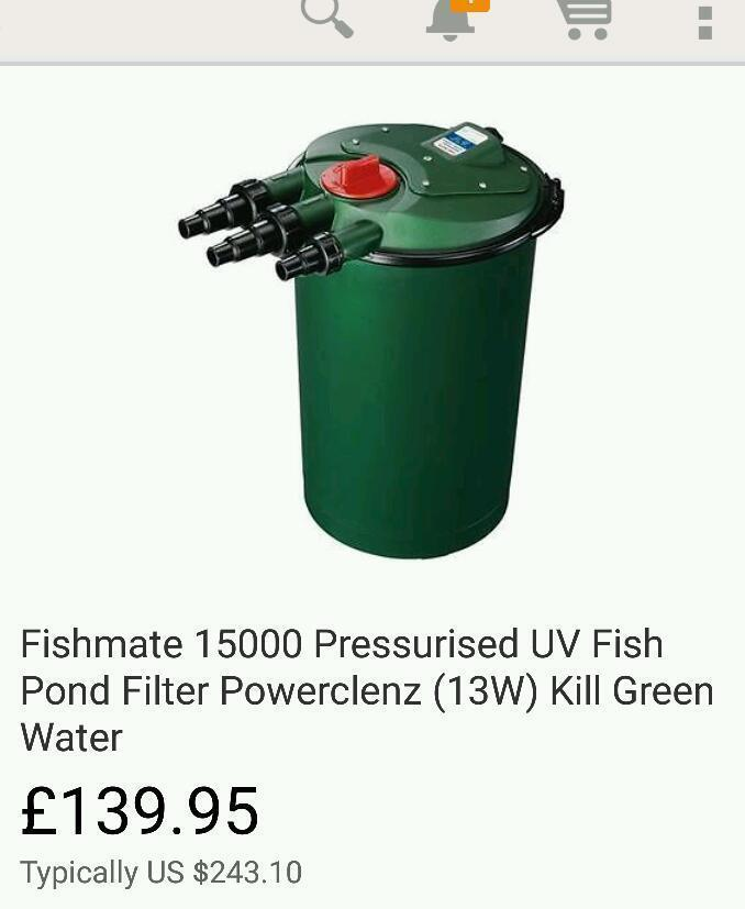 Pond equipment for united for Fish pond filters for sale