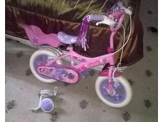 small girls bicycle with stabilizers