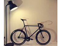 Brand New All Black Steel Frame Single speed road bike fixed gear racing fixie bicycle!!!!!