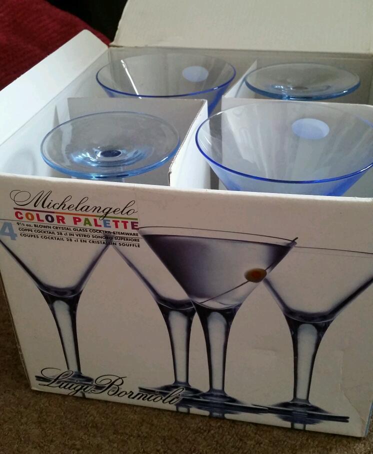 4 Crystal Martini Cocktail Glasses United Kingdom Gumtree