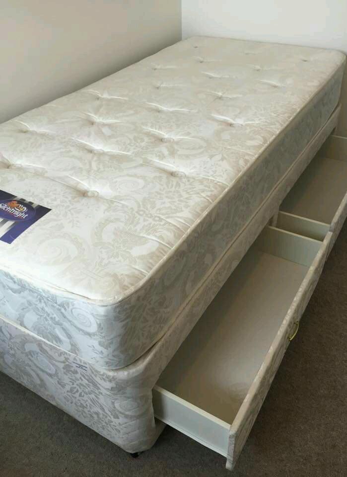 Silent night microcoil divan single bed united kingdom for Single divan sale