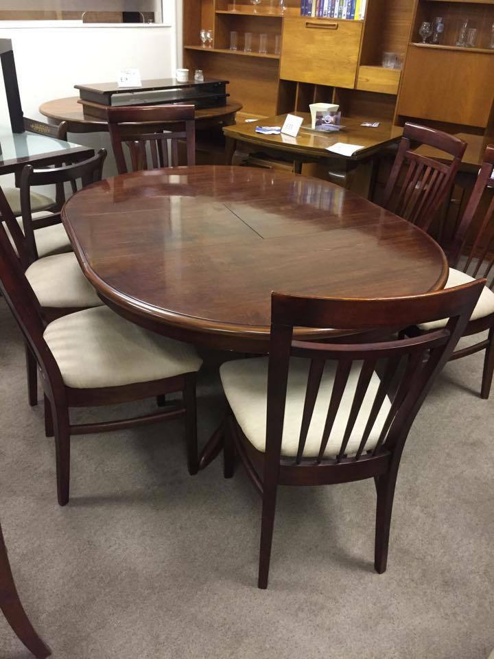 dark wood round table and 6 chairs united kingdom gumtree