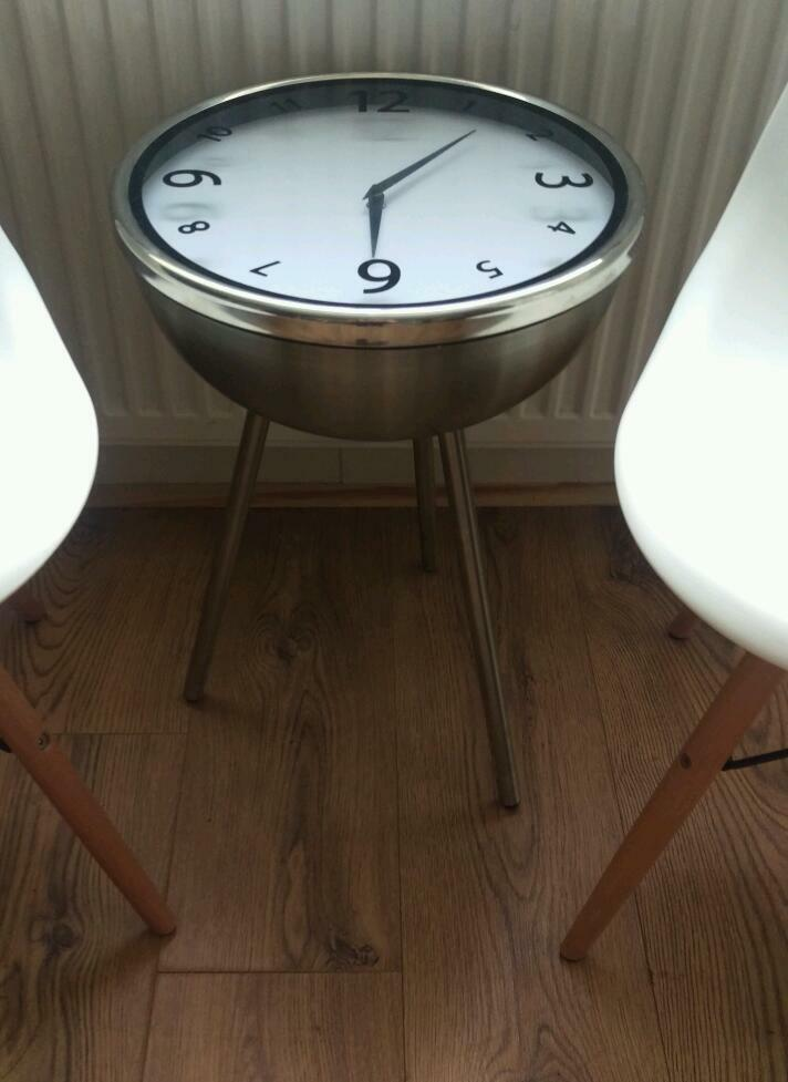 Unique Chrome Clock Side Table United Kingdom Gumtree