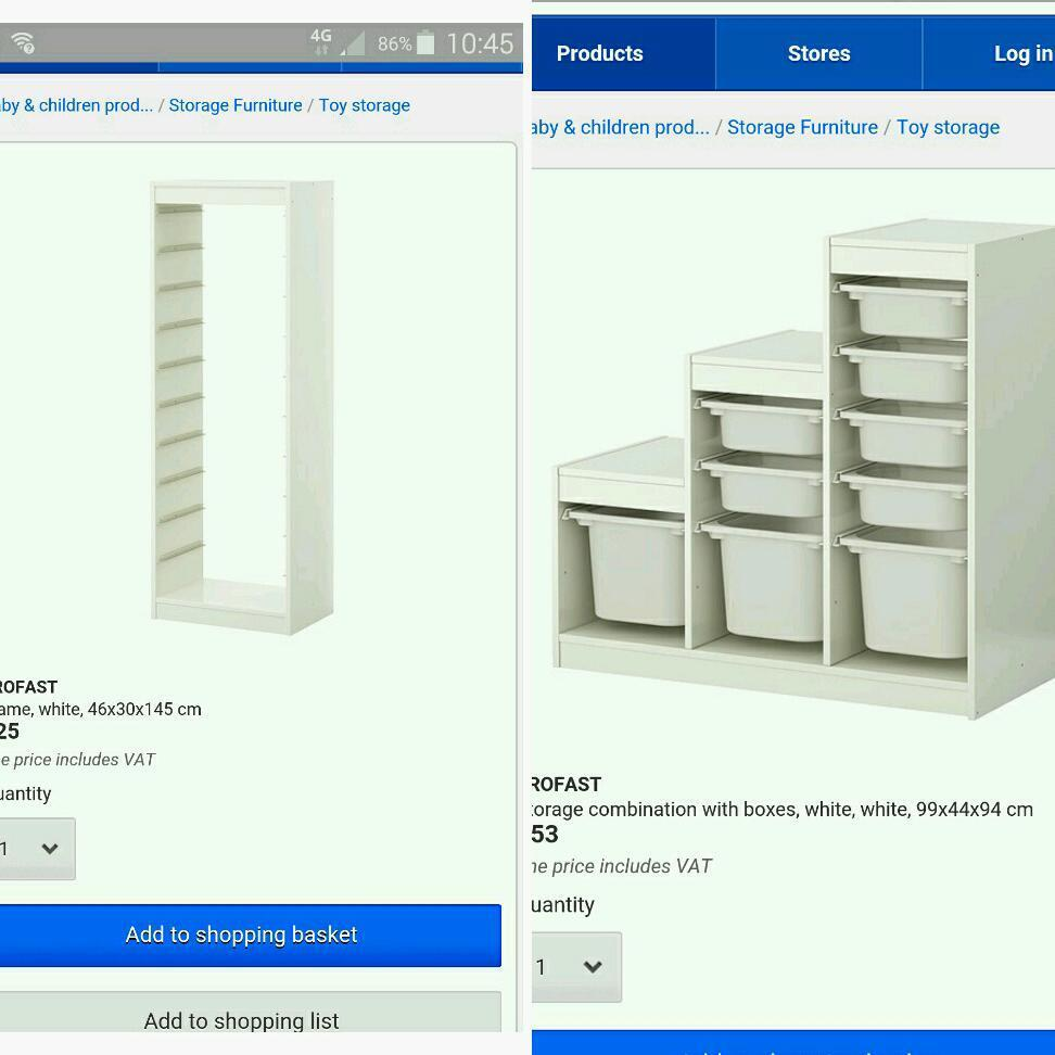 Ikea Malm Bett Niedrig Schwarz ~ storage units Hey selling 2 x trofast ikea storage units One is tall