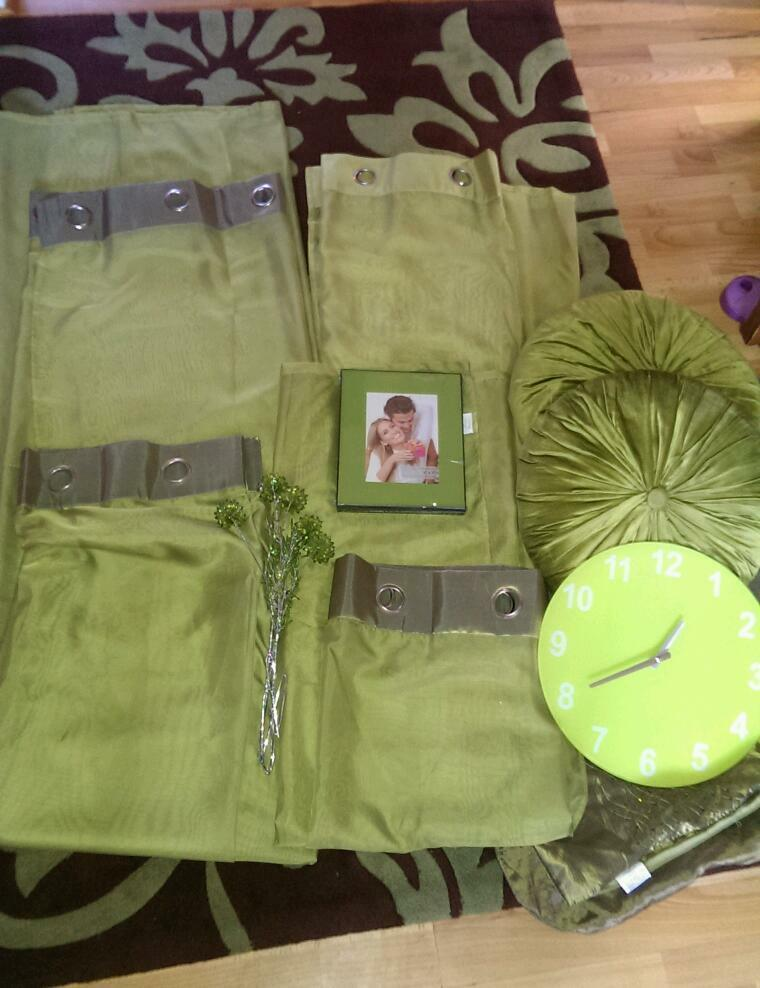 6 x green brown cushions buy sale and trade ads great for Living room kirkcaldy