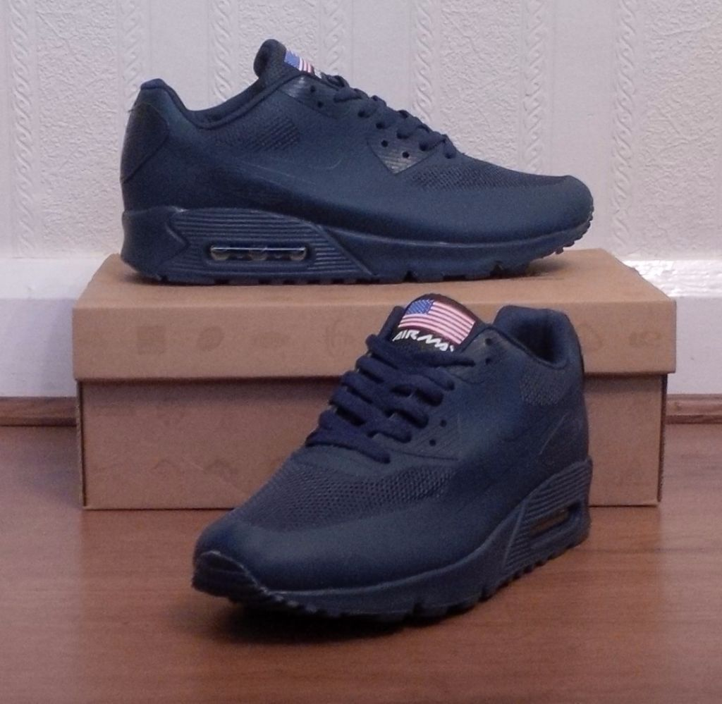 nike air max 90 hyperfuse navy blue