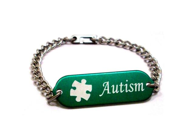 bracelet stainless paracord id medical products steel autistic engraved autism