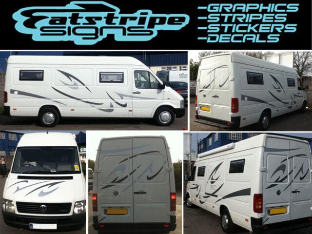 Motorhome Vinyl Graphics Stickers Decals Set Camper Van RV Caravan - Graphics for caravanscaravan stickers ebay