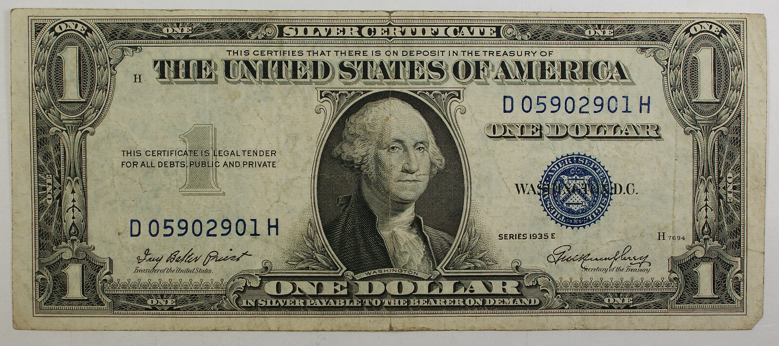 1935 one dollar silver certificate note vg vf old us ebay picture 1 of 2 xflitez Choice Image