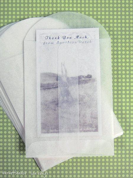 50 small glassine envelopes 275 x 375 business card size confetti picture 1 of 1 colourmoves