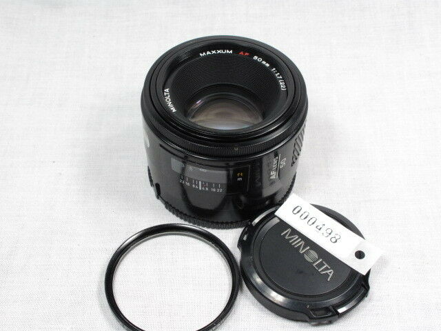 MINOLTA MAXXUM AF 50mm 1:1.7 FOR SONY ALPHA W/CAPS/FILT