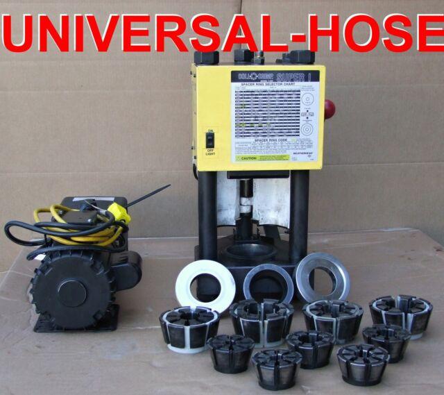 weatherhead t420 hydraulic hose crimper machine w pump ebay. Black Bedroom Furniture Sets. Home Design Ideas