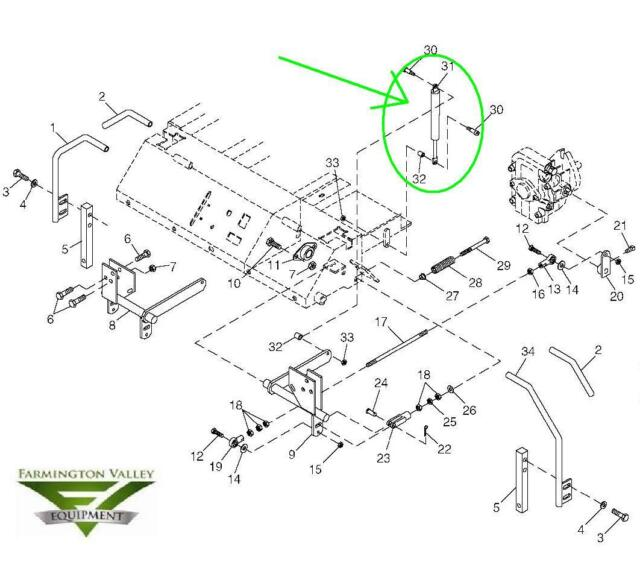 s l640 john deere m653 m655 m665 steering dampener torsional damper gas john deere m655 parts diagram at aneh.co