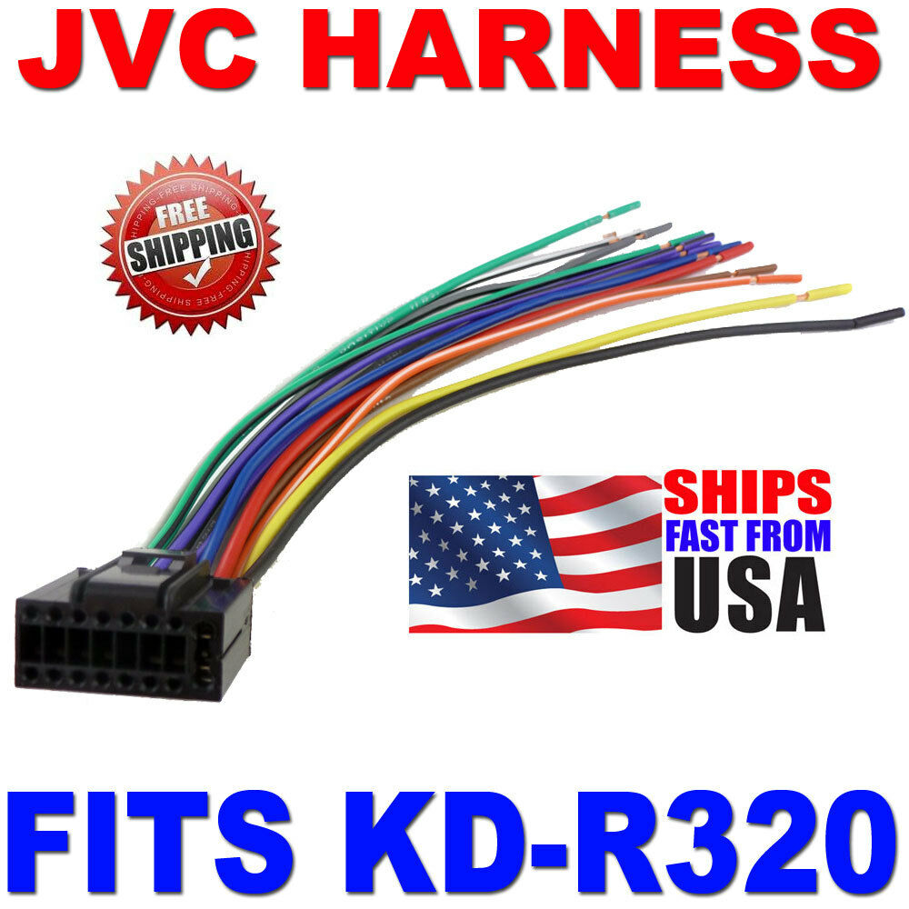 2010 jvc wire harness 16 pin harness kd r320 kdr320 ebay rh ebay com JVC Head Unit Wiring Diagram Simple of a JVC Car Radio Wiring