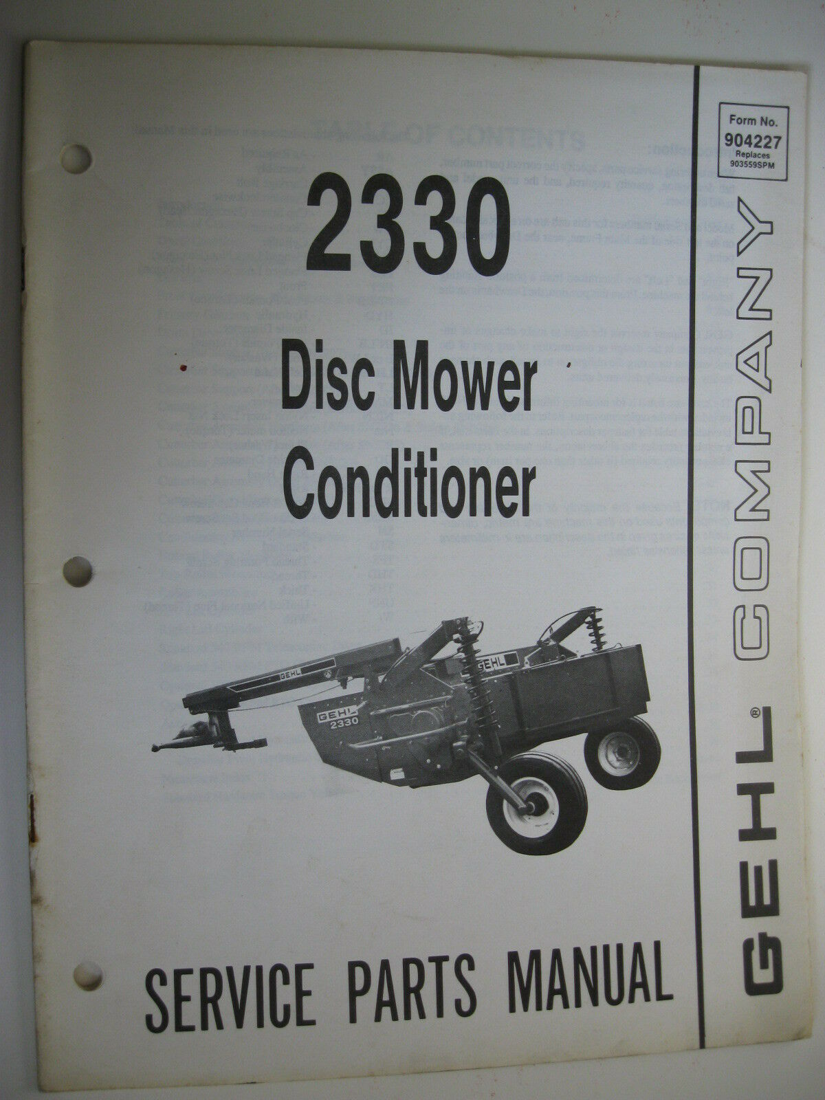 Gehl 2330 Mower Conditioner Service Manual. Be the first to write a review.  About this product. Picture 1 of 1