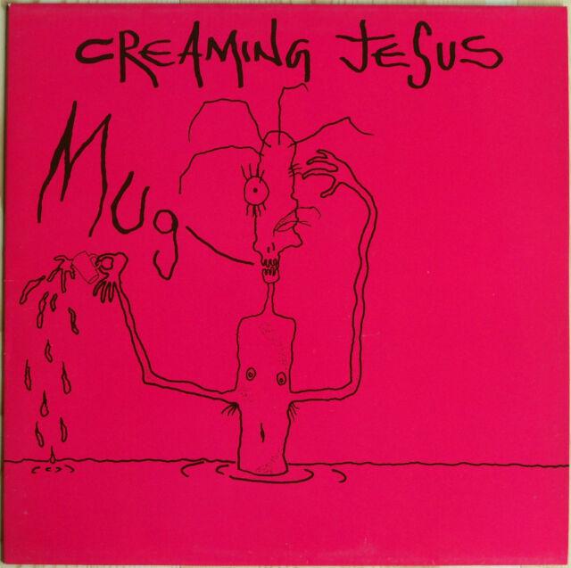 """CREAMING JESUS 'Mug' 12"""" EP gothic punk metal 1989 unplayed 'Bloody Collar'"""