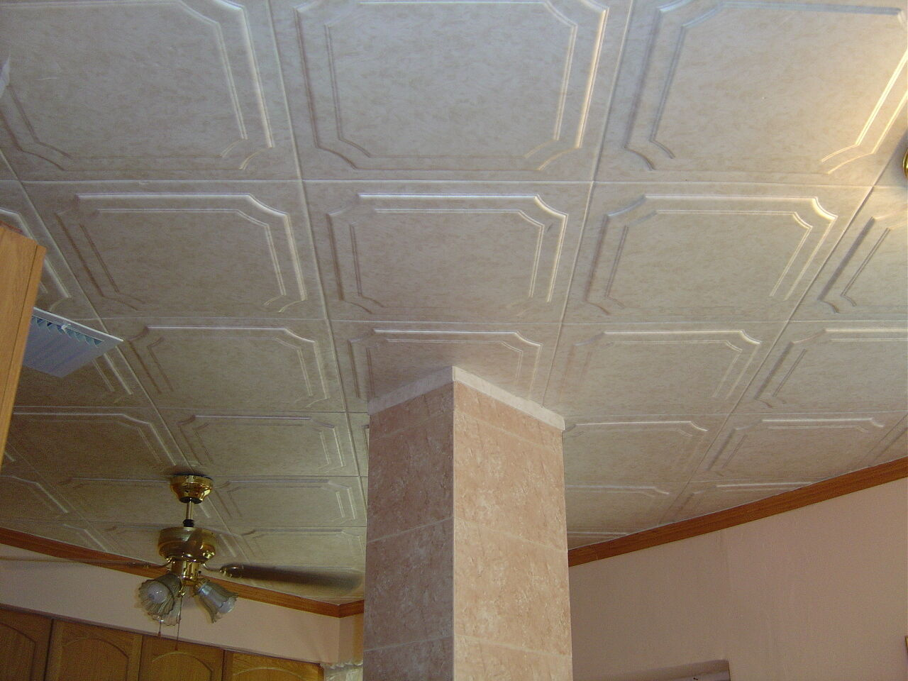 Tin look styrofoam ceiling tiles easy installation r8w ebay picture 1 of 5 dailygadgetfo Gallery