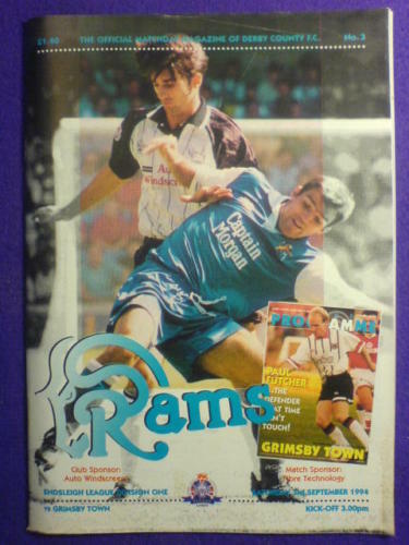 PROGRAMME - DERBY COUNTY v Grimsby - 3 Sept 1994