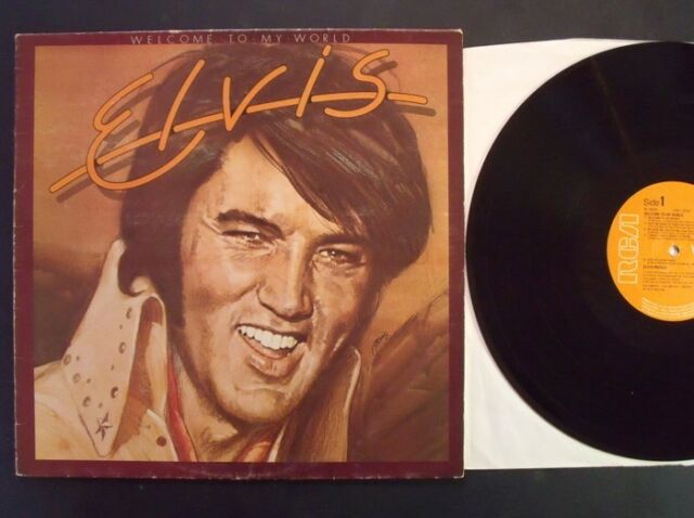 ELVIS PRESLEY WELCOME TO MY WORLD rca 77 uk 1st pr LP ex