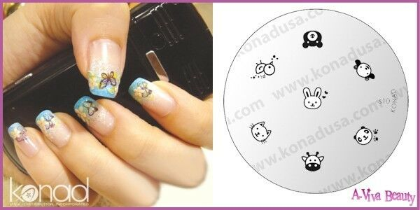 Konad Stamping Nail Art Image Plate S10 Animal Faces Ebay